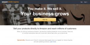 Amazon Vendor Express Account